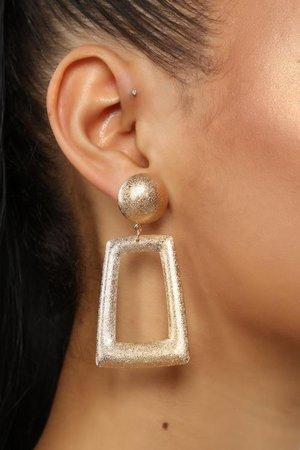 Baddest In The Room Earrings - Gold/Clear – Fashion Nova