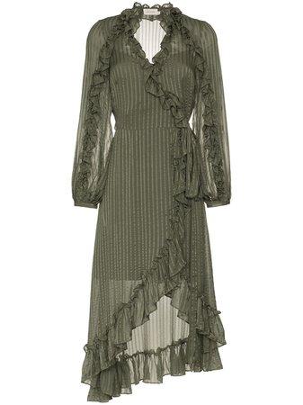 Zimmermann Cascade Wrap Midi Dress $795 - Shop AW18 Online - Fast Delivery, Price