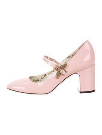 Gucci Lois Bee Mary Jane Pumps - Shoes - GUC301837   The RealReal