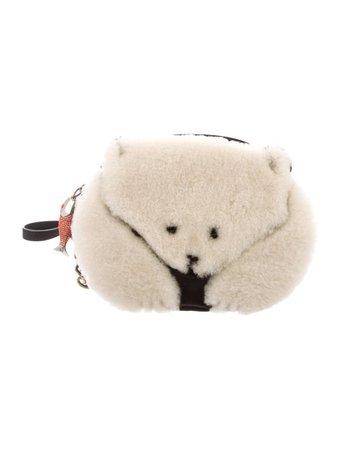 Kate Spade New York Shearling Polar Bear Crossbody Bag - Handbags - WKA103026   The RealReal