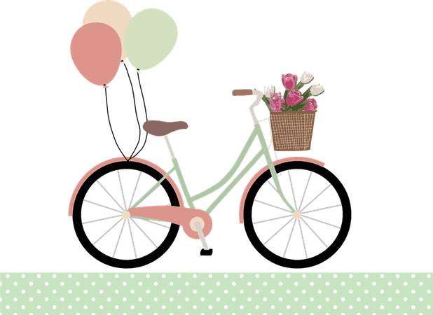 Balloons Basket Bicycle - Free vector graphic on Pixabay
