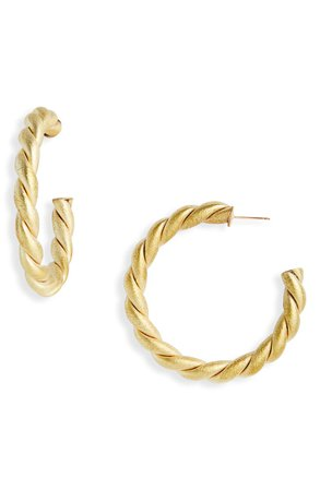Laura Lombardi Braid Hoop Earrings | Nordstrom