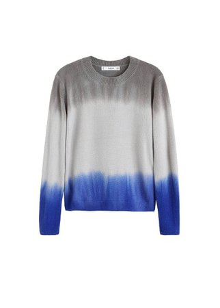 MANGO Tricolor knit sweater