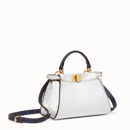 White leather bag - PEEKABOO ICONIC MINI   Fendi