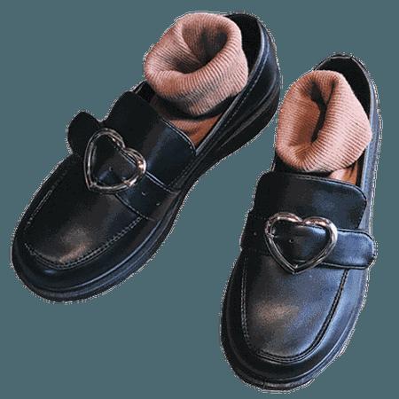 itGirl Shop | HEART BUCKLE OLD SCHOOL BOOTS