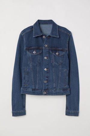 Denim Jacket - Dark denim blue - Ladies   H&M US