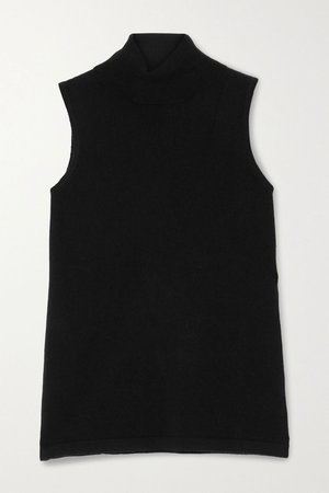 Black Turtleneck cashmere tank | Arch4 | NET-A-PORTER