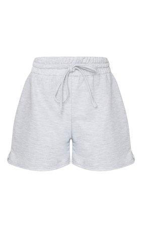 Grey Marl Loungewear Drawstring Short | PrettyLittleThing