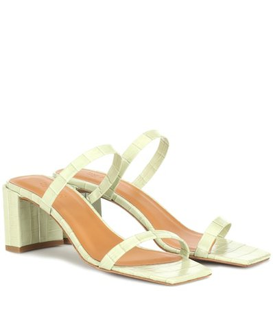 Tanya croc-effect leather sandals
