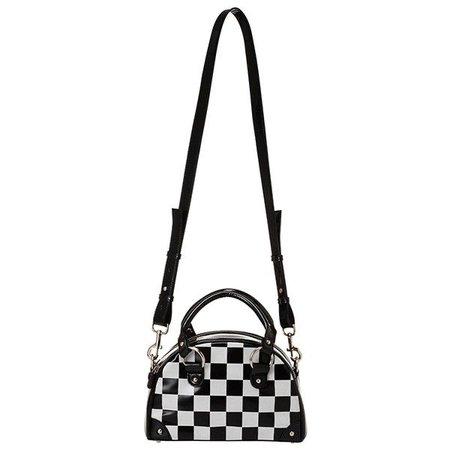 Checkered Mini Boston Bag ($155)