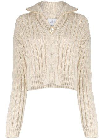 Nanushka Half Zip Knitted Jumper - Farfetch