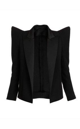 Satin-Trimmed Blazer By Balmain | Moda Operandi