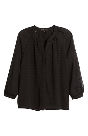 Gibson Swiss Dot Blouse | Nordstrom