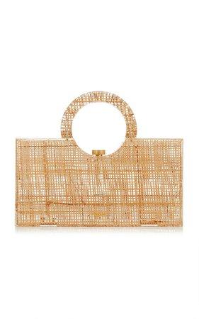 Iman Straw And Acrylic Top Handle Bag By Cult Gaia   Moda Operandi