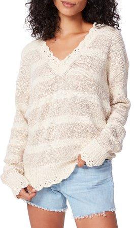 Caspian Stripe V-Neck Sweater