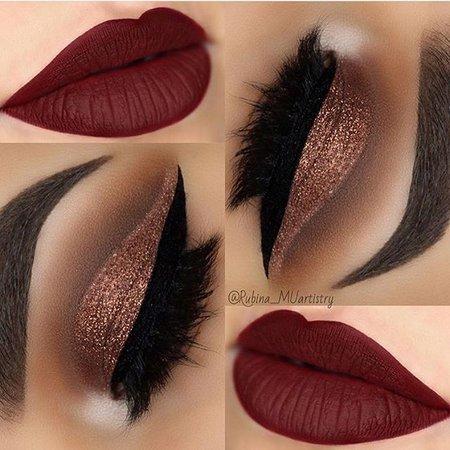 red lip gloss makeup ideas