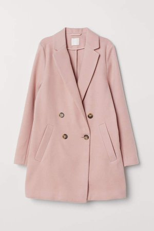 Double-breasted Coat - Pink