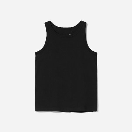 Women's Organic Cotton Cutaway Tank | Everlane black