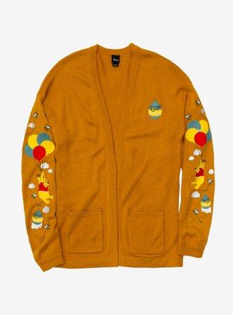 Disney Winnie The Pooh Balloon Ride Girls Open Cardigan
