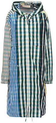 Gingham Taffeta Hooded Raincoat