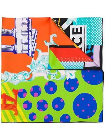 Versace Graphic Print Scarf - Farfetch