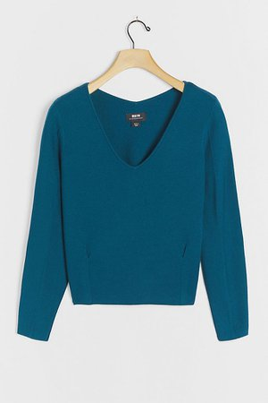 Lupita V-Neck Sweater   Anthropologie