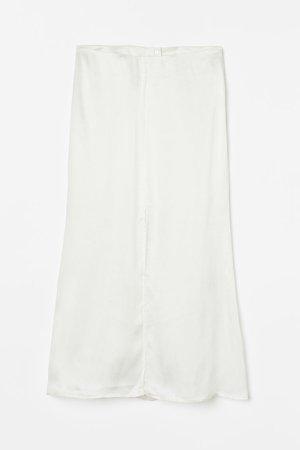 Lyocell-blend Skirt - White