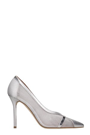 Malone Souliers Brook Pumps In Silver Leather