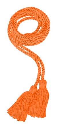 orange braided tassels