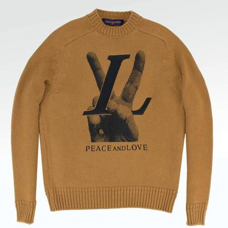 LOUIS VUITTON LV HAND PEACE AND LOVE CREWNECK KNIT