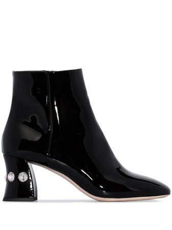 Miu Miu embellished 65mm ankle boots