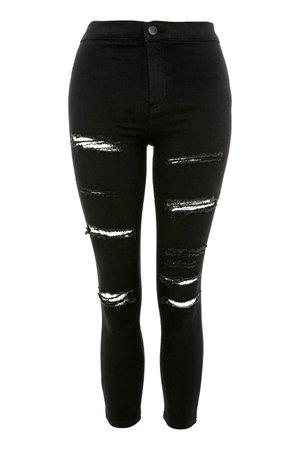 PETITE Super Ripped Joni Jeans - Topshop USA