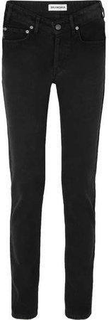 Mid-rise Straight-leg Jeans - Black
