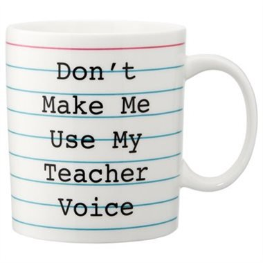 TEACHER VOICE MUG by Indigo | Novelty Mugs Gifts | chapters.indigo.ca