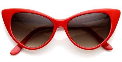 Pointed Vintage Red Cat Eye Sunglasses 8371ZU