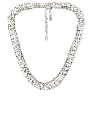 8 Other Reasons Meet Me In Paris Necklace in Silver | REVOLVE