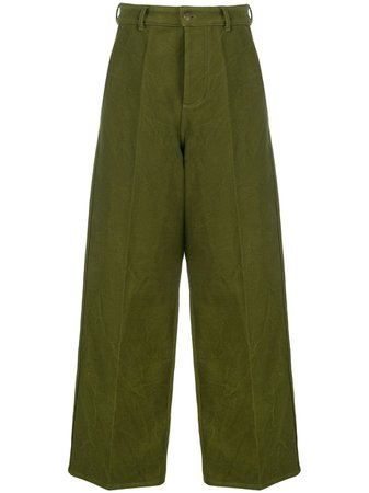 AMI Paris wide-leg Trousers - Farfetch
