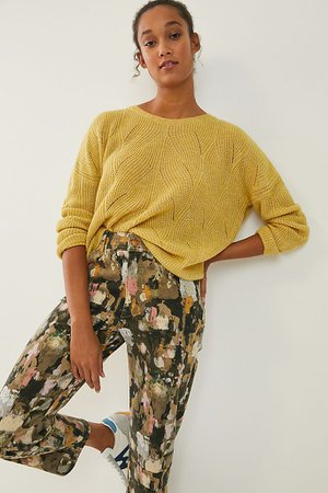 Keely Cable-Knit Sweater | Anthropologie