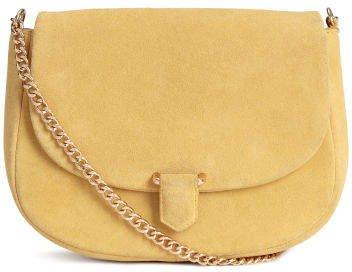 Suede Shoulder Bag - Yellow