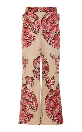 BODE DRAGON SILK TROUSERS