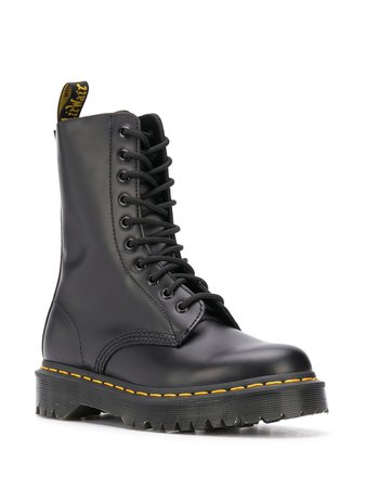 Dr. Martens 1490 Virginia Leather Boots - Farfetch