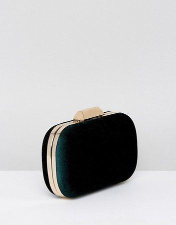 True Decadence | True Decadence Emerald Green Velvet Gem Clutch Bag