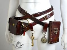 Ultimate steampunk bags and belts kit. READY TO SHIP | Steampunk accessories, Steampunk belt, Steampunk clothing