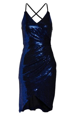 Morgan & Co. Strappy Sequin Cocktail Dress   Nordstrom