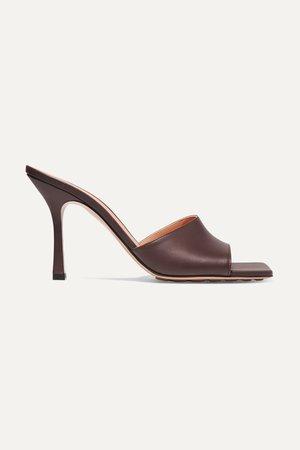 Brown Leather mules | Bottega Veneta | NET-A-PORTER