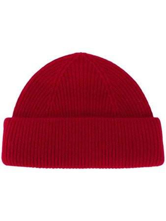 Shop red Isabel Marant ribbed beanie hat with Express Delivery - Farfetch