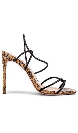 Schutz Gabiele Heel in Honey Beige Snake | REVOLVE