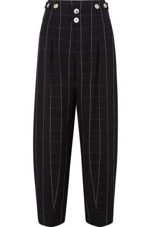 Chloé | Checked wool wide-leg pants | NET-A-PORTER.COM