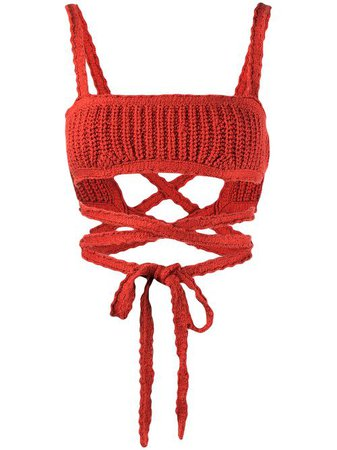 Alanui Cacti Bralette Knitted Top - Farfetch