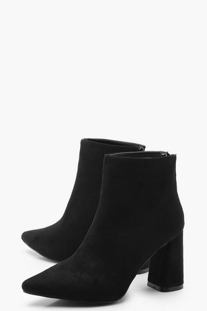 Block Heel Pointed Shoe Boots | Boohoo